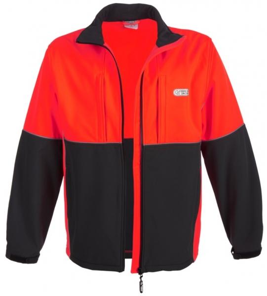 WATEX-Forstschutz-Softshell-Jacke, anthrazit/leuchtrot