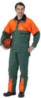 WATEX-Forst-Arbeits-Schnitt-Schutz-Berufs-Jacke, Forest-Jack, grün-orange