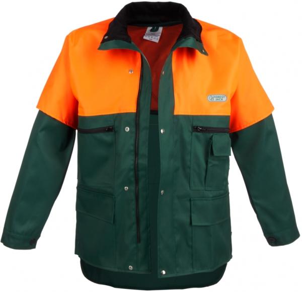 WATEX-Forst-Arbeits-Schutz-Berufs-Jacke, Forest-Jack, grün/leuchtorange