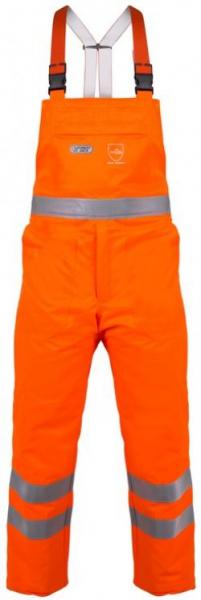 WATEX-Workwear, Forstschutz-Schnittschutzwarn-Latzhose, leuchtorange,