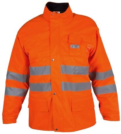 WATEX-Forst-Arbeits-Schnitt-Schutz-Warn-Berufs-Jacke, Forest Jack, leuchtorange