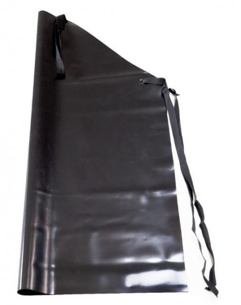 WATEX-PVC-Gummi-Arbeits-Berufs-Schutz-Schürzen, 0,5 mm stark, schwarz