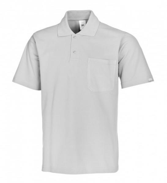 BP-Damen-Herren-Poloshirt, Arbeits-Berufs-Polo-Shirt, hellgrau