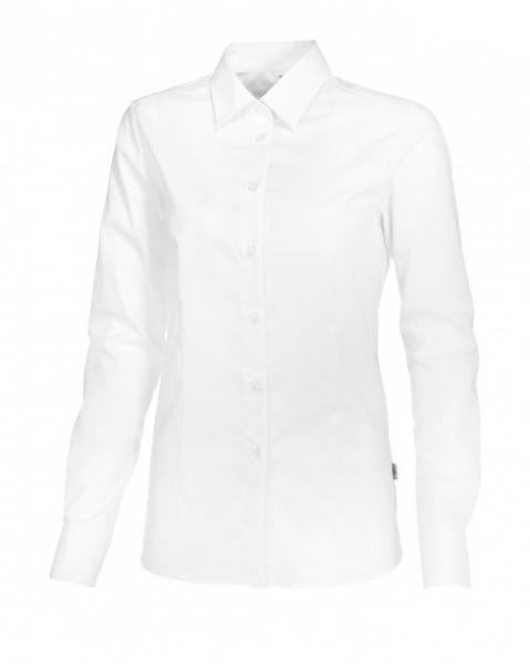 BP Damen-Arbeits-Berufs-Bluse, 1/1-Arm, ca. 125 g/m², weiß