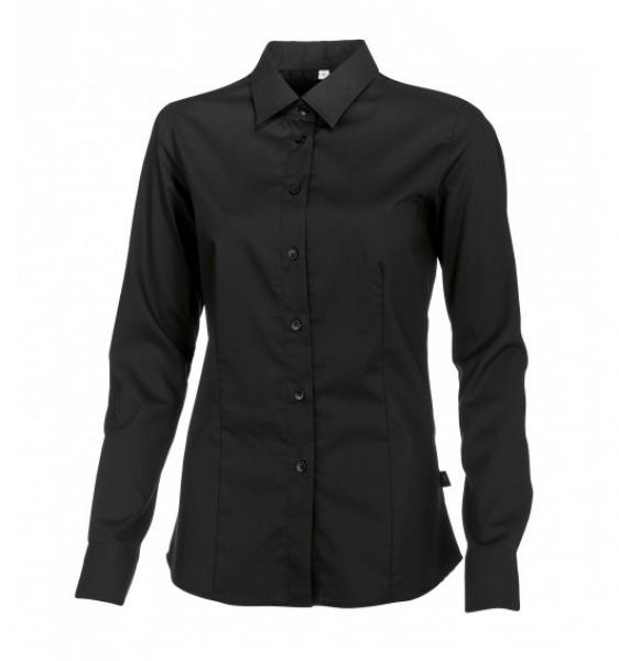 BP Damen-Arbeits-Berufs-Bluse, 1/1-Arm, ca. 125 g/m², schwarz