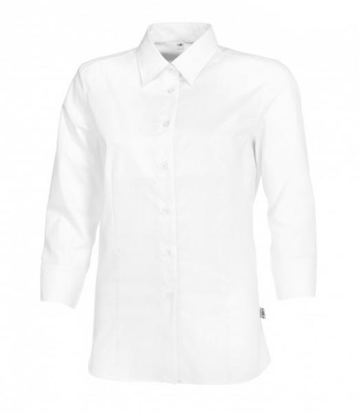 BP Damen-Arbeits-Berufs-Bluse, 3/4-Arm, ca. 125 g/m², weiß