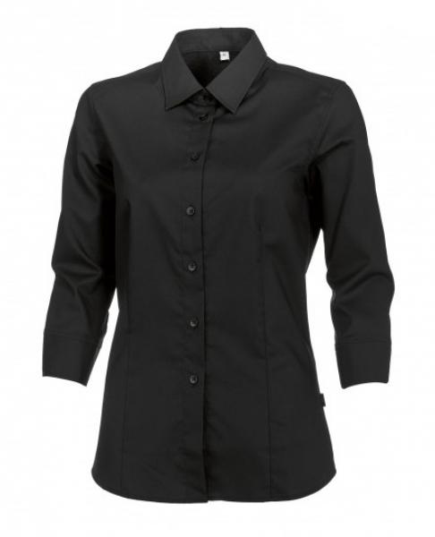 BP Damen-Arbeits-Berufs-Bluse, 3/4-Arm, ca. 125 g/m², schwarz