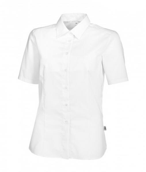 BP Damen-Arbeits-Berufs-Bluse, 1/2-Arm, ca. 125 g/m², weiß