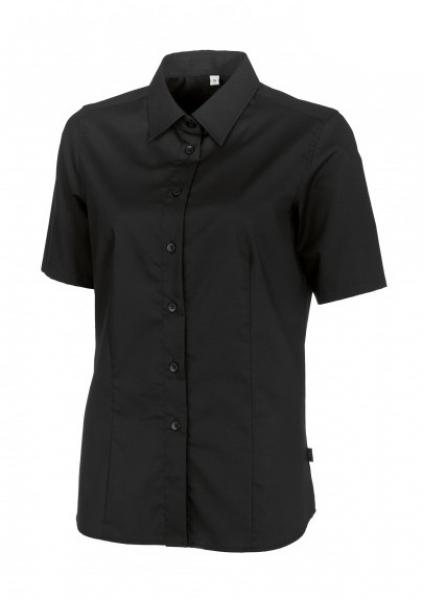 BP Damen-Arbeits-Berufs-Bluse, 1/2-Arm, ca. 125 g/m², schwarz