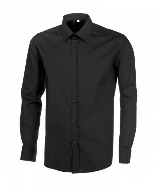 BP Herrenhemd, Arbeits- und Berufs-Hemd, 1/1-Arm, ca. 125 g/m², schwarz