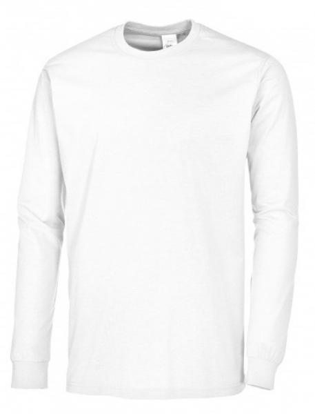 BP-Damen-Herren-T-Shirt, Arbeits-Berufs-Shirt, Langarm, weiß