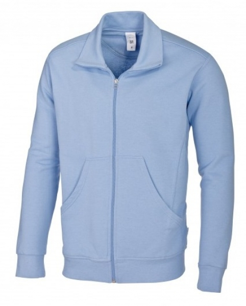 BP Arbeits-Sweat-Berufs-Jacke für Sie & Ihn, MG320, hellblau