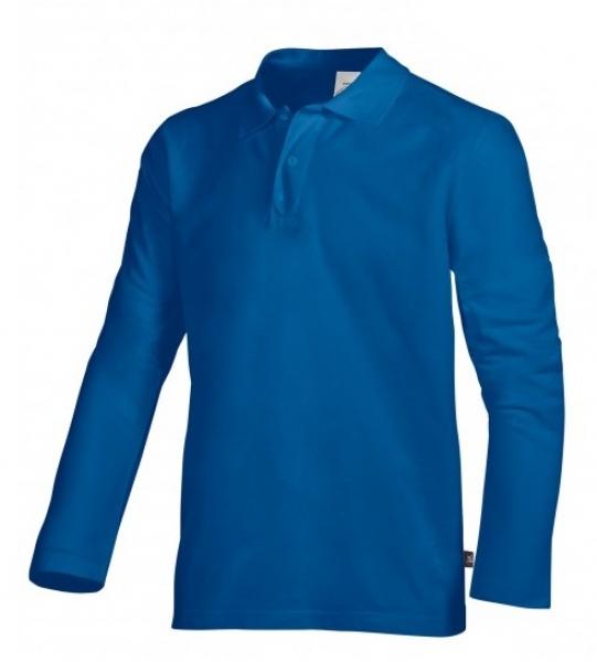 BP-Damen-Herren-Poloshirt, Arbeits-Berufs-Polo-Shirt, Langarm, königsblau