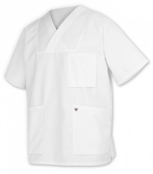 BP-Arbeits-Berufs-Kasack, Schlupf-Kasack-Jacke für Sie & Ihn, weiß 15 Stück