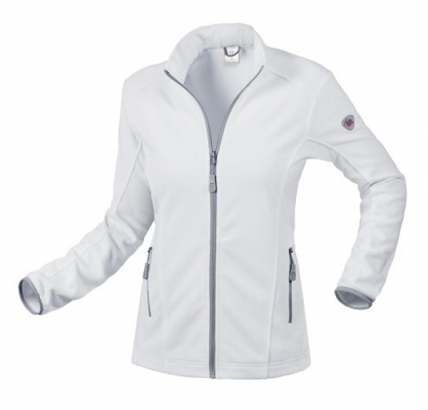 BP-Damen-Fleece-Arbeits-Berufs-Jacke, 275 g/m², weiß
