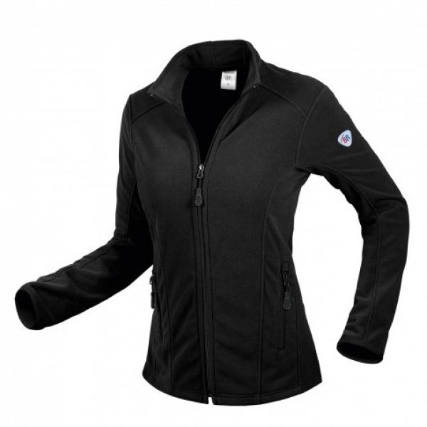 BP-Damen-Fleece-Arbeits-Berufs-Jacke, 275 g/m², schwarz