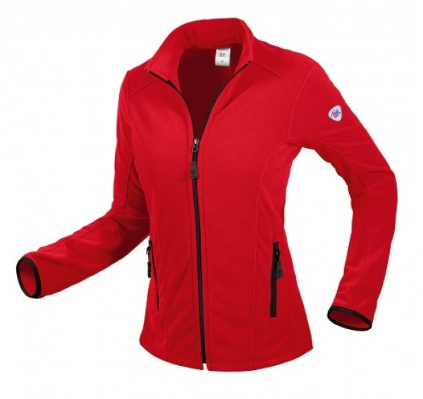 BP-Damen-Fleece-Arbeits-Berufs-Jacke,, 275 g/m², rot