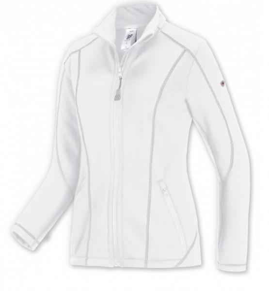 BP-Damen-Stretch-Fleece-Arbeits-Berufs-Bund-Jacke, ca. 250g/m², weiß