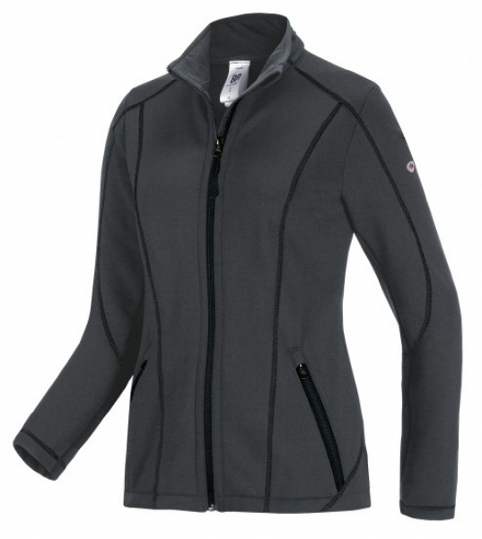 BP-Damen-Stretch-Fleece-Arbeits-Berufs-Bund-Jacke, ca. 250g/m², anthrazit