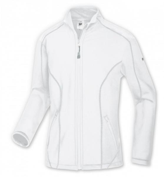 BP-Herren-Stretch-Fleece-Arbeits-Berufs-Bund-Jacke, ca. 250g/m², weiß