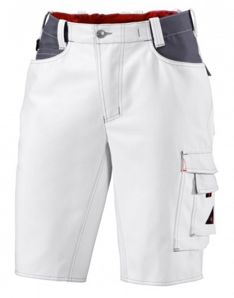 BP Arbeits-Berufs-Shorts, ca. 295 g/m², weiß/dunkelgrau