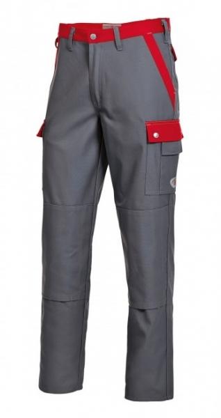 BP Arbeits-Berufs-Bund-Hose, dunkelgrau-rot