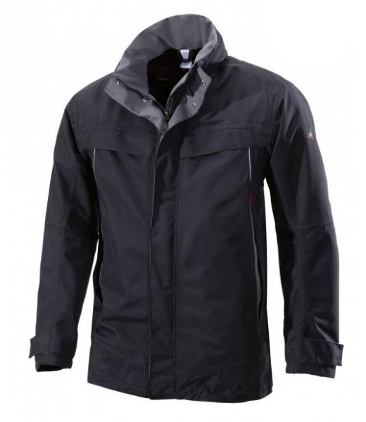 BP Wetterschutz-Winter-Arbeits-Berufs-Jacke, schwarz/dunkelgrau