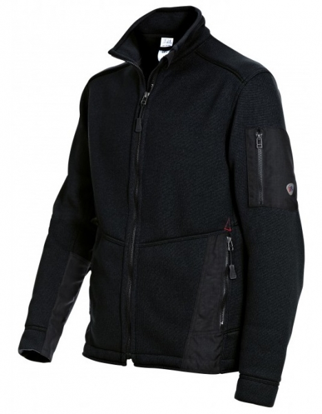 BP Winter-Strick-Fleece-Arbeits-Berufs-Jacke, schwarz