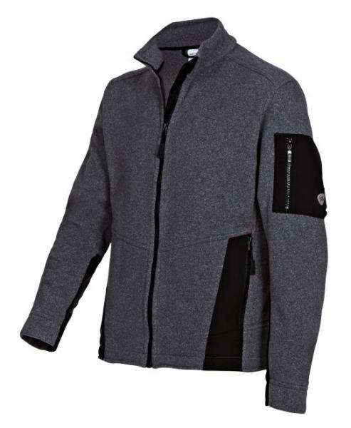 BP Winter-Strick-Fleece-Arbeits-Berufs-Jacke, dunkelgrau/schwarz
