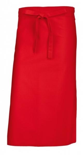 BP-Bistroschürze, Arbeits-Berufs-Schürze, lang, 3 Stück, ca. 215g/m², rot