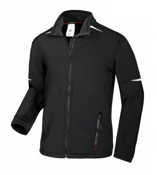 BP-Stretch-Fleece-Arbeits-Berufs-Bund-Jacke für Herren, ca. 250g/m², schwarz