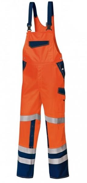 BP-Warn-Schutz-Arbeits-Berufs-Latz-Hose, ca. 270g/m², warnorange/dunkelblau