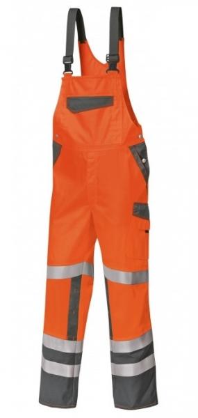 BP Warn-Schutz-Arbeits-Berufs-Latz-Hose, warnorange/dunkelgrau
