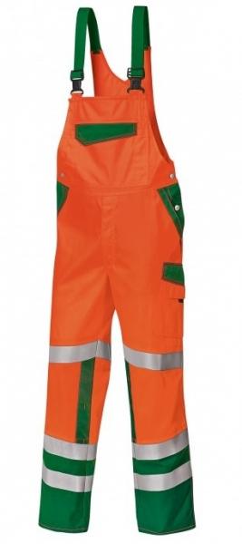 BP-Warn-Schutz-Arbeits-Berufs-Latz-Hose, ca. 270g/m², warnorange/grün