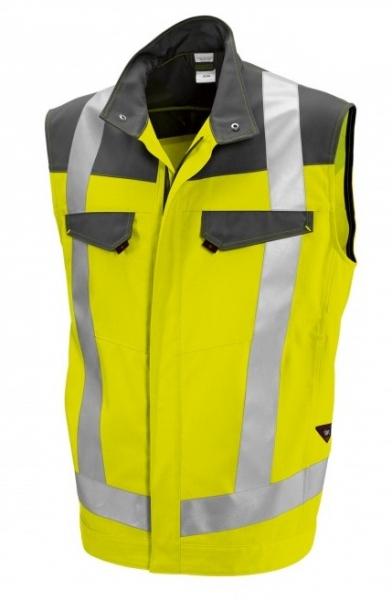 BP Warn-Schutz, Arbeits-Sicherheits-Berufs-Weste, warngelb/dunkelgrau