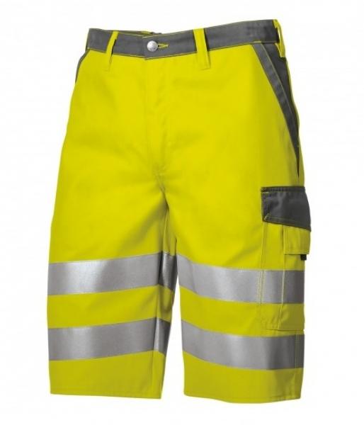 BP Warn-Schutz-Shorts, warngelb/dunkelgrau