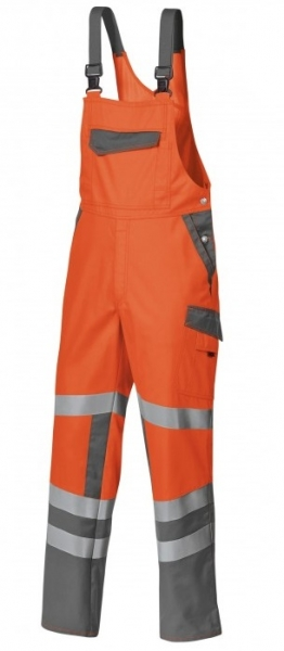 BP-Warn-Schutz-Arbeits-Berufs-Latz-Hose, ca. 270g/m², warnorange/dunkelgrau
