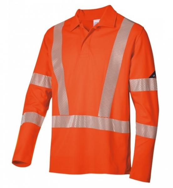 BP-Warn-Schutz-Langarm-Poloshirt für Sie & Ihn, ca. 185g/m², warnorange