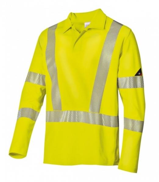 BP-Warn-Schutz-Langarm-Poloshirt für Sie & Ihn, ca. 185g/m², warngelb