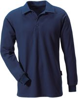 ROFA-Polo-Shirt, Langarm, marine