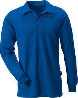 ROFA-Polo-Shirt, Langarm, kornblau