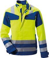 ROFA-PSA-Bekleidung Modacryl, Warn-Schutz-Arbeits-Berufs-Jacke 360 - Multi seven, leuchtgelb-kornblau