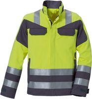 ROFA-PSA-Bekleidung Modacryl, Warn-Schutz-Arbeits-Berufs-Jacke 360 - Multi seven, leuchtgelb-grau