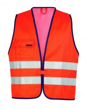 ROFA-Warn-Schutz-Weste, Multinormen, Flamm- und Hitzeschutz, leuchtorange/marine