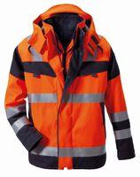 ROFA-Warn-Schutz-Parka, Multi nine, Wetter-, Flamm- und Hitzeschutz, leuchtorange/grau