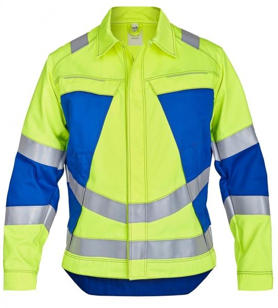 ROFA-Jacke, Vis Line, 340 g/m², leuchtgelb/kornblau