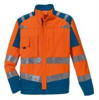ROFA-Warn-Schutz-Arbeits-Berufs-Bund-Hose, leuchtorange-kornblau