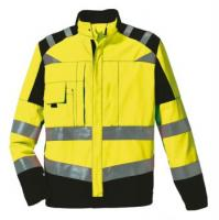 ROFA-Warn-Schutz-Arbeits-Berufs-Bund-Hose, leuchtgelb-marine