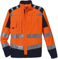 ROFA-Warn-Schutz-Arbeits-Berufs-Bund-Hose, leuchtorange-marine
