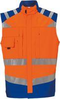 ROFA-Warn-Schutz, Arbeits-Sicherheits-Berufs-Weste, leuchtorange-kornblau